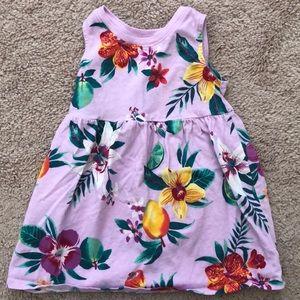 Old Navy Lavender Floral Fit & Flare Girls Dress